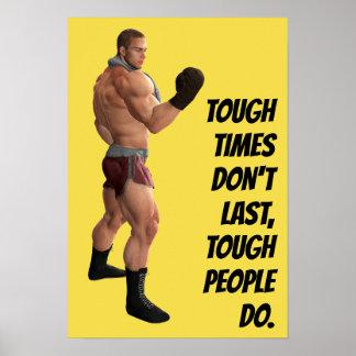 Motivierend der Durchschlags-Kämpfer-Zitat des Poster