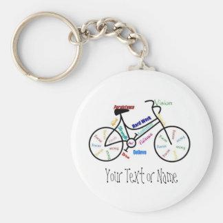 Motivierend Fahrrad, Fahrrad, fahrend, Sport, Hobb Schlüsselanhänger