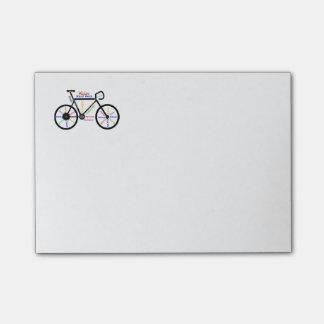 Motivierend Fahrrad, Fahrrad, fahrend, Sport, Post-it Haftnotiz