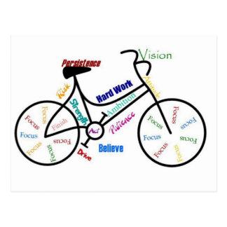 Motivierend Fahrrad, Fahrrad, fahrend, Sport, Postkarten