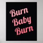 Motivierend Fitness-Brand-Baby-Schwarz-Rosa Poster