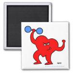"Motivierend Fitness-Cartoon ""Strongheart"" Magnet Kühlschrankmagnete"