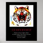 Motivierend Führungs-Pop-Kunst-Tiger-Plakat Poster