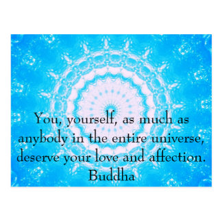 Motivierend Inspirational Buddha-Zitat Postkarte