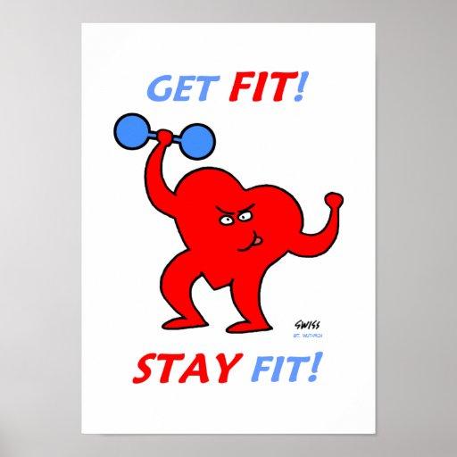 Motivierend Inspirational Herz-Fitness-Plakat