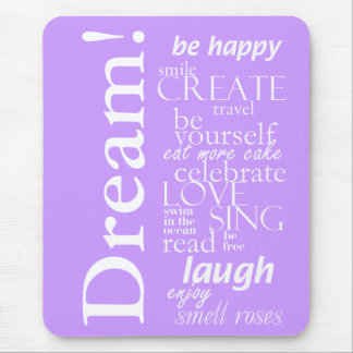motivierend inspirational Wörter - Traum, Lachen Mousepad