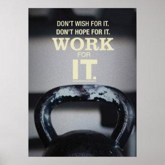 Motivierend Kettlebell Turnhallen-Plakat
