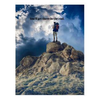 Motivierend kommen Sie dorthin Postkarte
