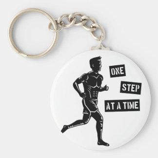 Motivierend laufendes Mann-Zitat-Schwarzes Schlüsselanhänger