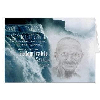 Motivierend leeres des Gandhi Stärken-Zitat-| nach Karte