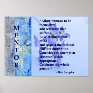 Motivierend Mentor-Plakat Poster
