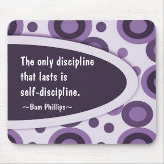 Motivierend Mousepad - Disziplin-Zitat