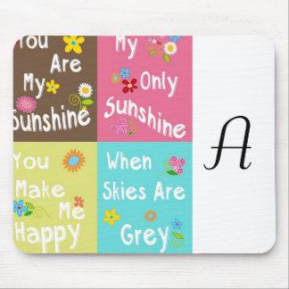 Motivierend Phrasen der Typografie - Collage Mauspads