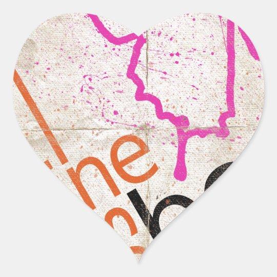 Motivierend Plakat Herz-Aufkleber
