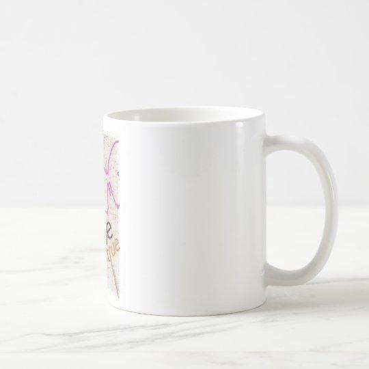 Motivierend Plakat Kaffeetasse