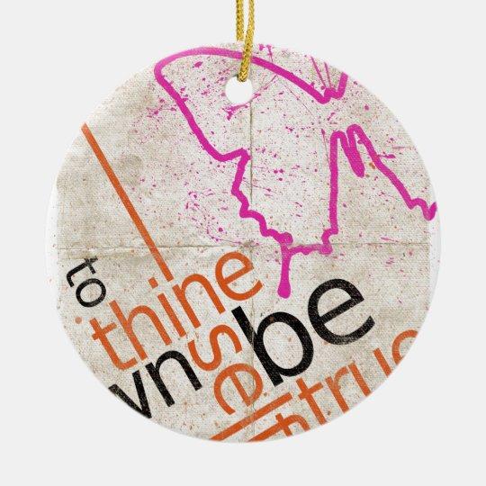 Motivierend Plakat Keramik Ornament