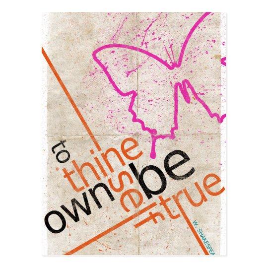 Motivierend Plakat Postkarte
