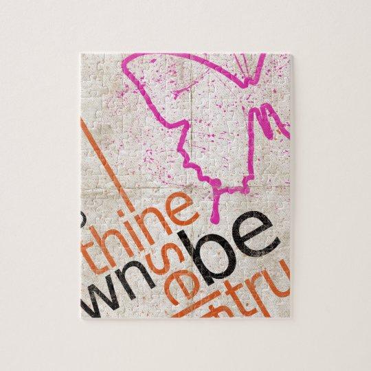 Motivierend Plakat Puzzle