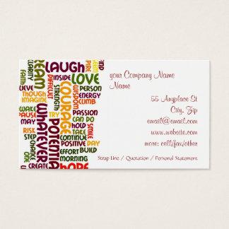 Motivierend Positivermutigung der Wörter #1 Visitenkarte
