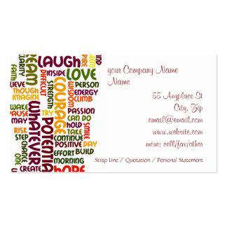 Motivierend Positivermutigung der Wörter #1 Visitenkarten