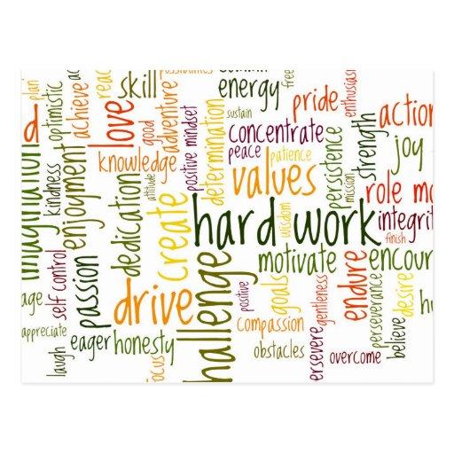 Motivierend Positivermutigung der Wörter #2 Postkarte