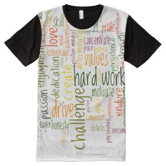 Motivierend Positivermutigung der Wörter #2 T-Shirt Mit Bedruckbarer Vorderseite