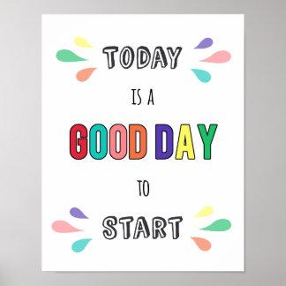 Motivierend Typografie-Zitat-guter Tag zum zu Poster