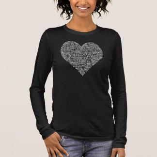 Motivierend Wort-Herz-Chiropraktik-Shirt Langarm T-Shirt