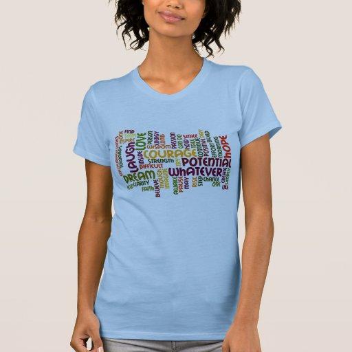 Motivierend Wörter #1 - positive Haltung T-shirt
