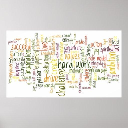 Motivierend Wörter #2 Posterdruck