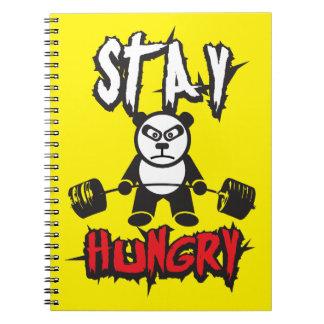 Motivierend Wörter - Aufenthalt hungrig Notizblock