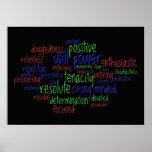Motivierend Wörter, die eine positive Haltung Posterdruck