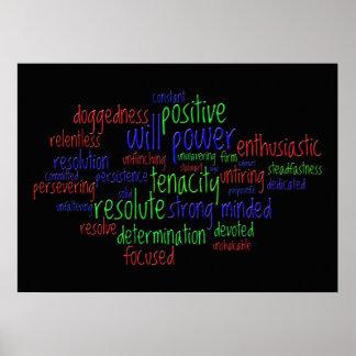 Motivierend Wörter, die eine positive Haltung Poster
