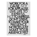 Motivierend Wörter Poster