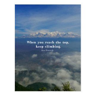 Motivierend Zen-Sprichwort über Herausforderungen Postkarte