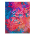 Motivierend Zitat des abstrakten Plakats der Kunst Poster