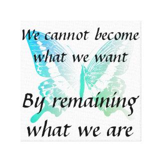 Motivierend Zitat-Leinwand mit Schmetterling Leinwanddruck