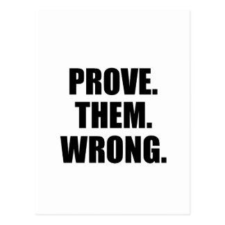 Motivierend Zitat: Prüfen Sie sie falsch Postkarten