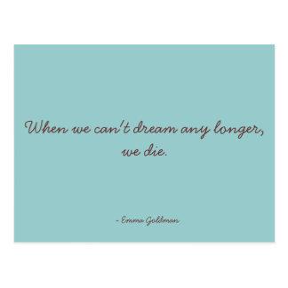 Motivierend Zitat - träumend Postkarte
