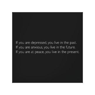 Motivierend Zitat, zum im Geschenk zu leben Leinwanddruck