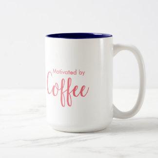 Motiviert durch Kaffee - Kaffee-Tasse Zweifarbige Tasse