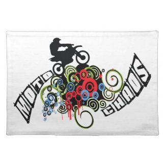 Moto Chaos-Schmutz-Fahrrad-Reiter Tischset