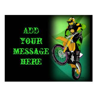 Motocross 406 postkarte