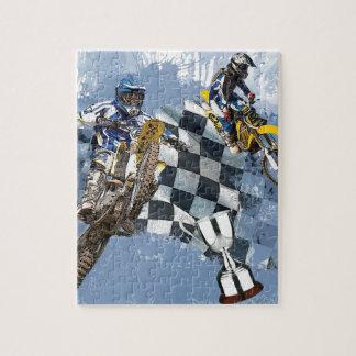 Motocross-Blau-Träume Foto Puzzles