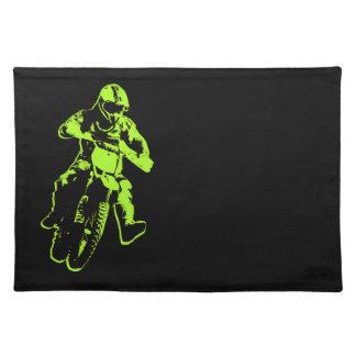 Motocross grün stofftischset