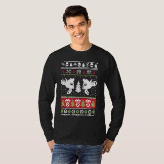 MOTOCROSS-HÄSSLICHE WEIHNACHTSstrickjacke T-Shirt