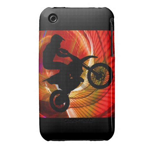 Motocross-helle Streifen in einem Windtunnel iPhone 3 Hülle
