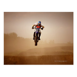 Motocross-Reiter Postkarte
