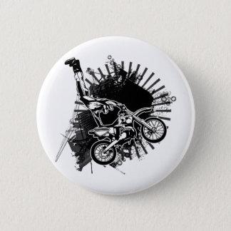 Motocross-Schmutz-Sprung Runder Button 5,1 Cm