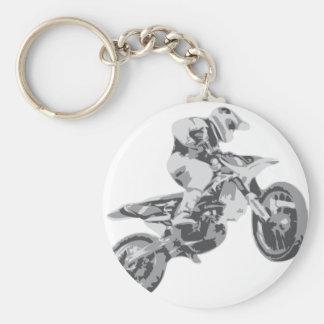 Motocross Standard Runder Schlüsselanhänger
